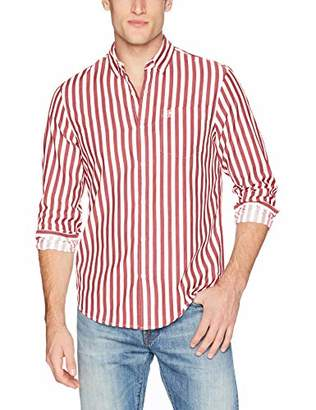 Original Penguin Men's Long Sleeve Vertical Stripe Button Down Shirt