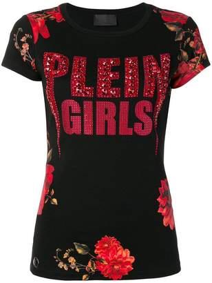 Philipp Plein floral print logo T-shirt
