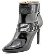Armani Jeans Uw584 Women Round Toe Patent Leather Bootie.