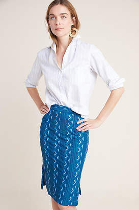 da06be0bb22a Anthropologie Sienna Embroidered Pencil Skirt
