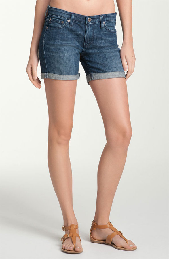 AG Jeans 'City' Cuff Denim Shorts (Abyss)