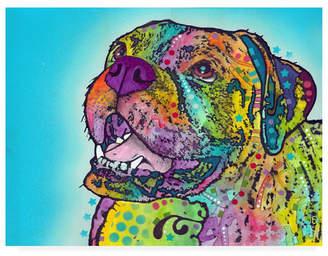 """Dean Russo Smiling Boxer Canvas Art - 19.5"""" x 26"""""""