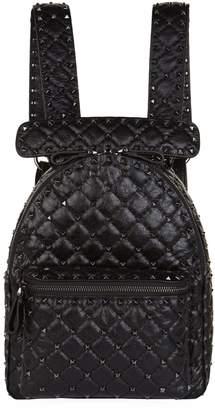 Valentino Crinkled Leather Rockstud Backpack