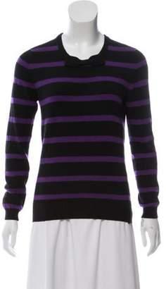 Chanel Striped Cashmere Sweater Black Striped Cashmere Sweater