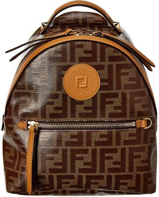 Fendi Ff Mini Leather Backpack