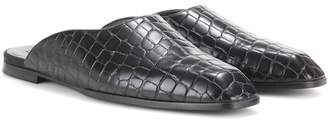Stella McCartney Croc-effect slippers