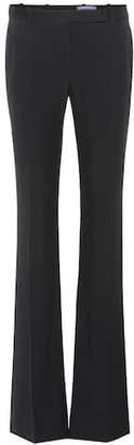 Alexander McQueen Mid-rise crêpe trousers