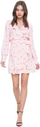 Juicy Couture Rose Print Flirty Wrap Dress