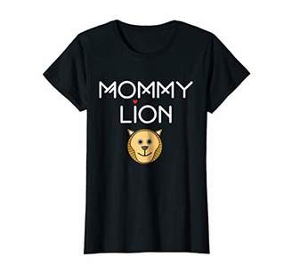 Womens Mommy Lion Matching family mother gift tee shirt