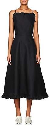 Co Women's Wool-Blend Faille Midi-Dress - Black