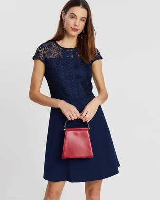 Dorothy Perkins Scuba Lace Fit-and-Flare Dress