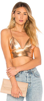 by the way. Serenity Metallic Crop Top