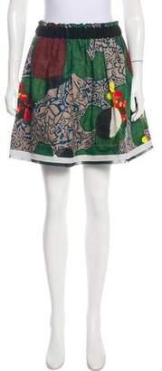 Philosophy di Alberta Ferretti Printed A-Line Mini Skirt