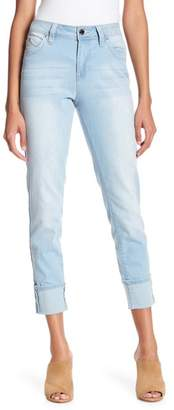 YMI Jeanswear Outerwear WannaBettaButt Mid-Rise Mega Cuff Denim Jeans