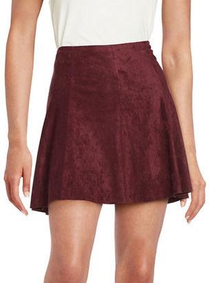 Bb Dakota Sueded Strapless A-Line Skirt $84 thestylecure.com