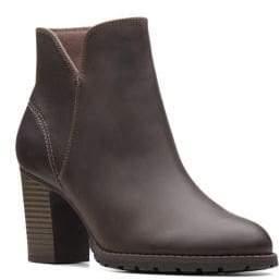 Clarks Verona Trish Leather Booties