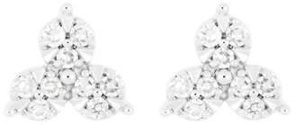 Carriere Sterling Silver Diamond Cluster Earrings - 0.09 ctw