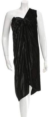 Lanvin Velvet One-Shoulder Sleeve Dress w/ Tags