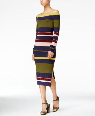 RACHEL Rachel Roy Striped Midi Sweater Dress, Only at Macy's $119 thestylecure.com