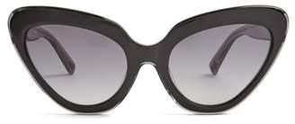 Linda Farrow Cat Eye Acetate Sunglasses - Womens - Black