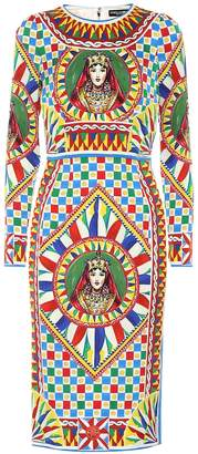 Dolce & Gabbana Printed stretch silk dress
