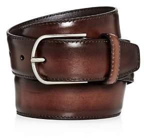 Canali Burnished Leather Belt