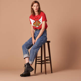 Sandro Embroidered T-shirt