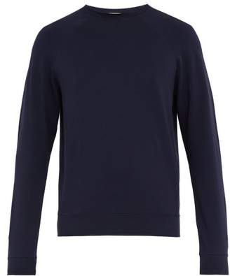 Handvaerk - Flex Raglan Sleeve Cotton Blend Sweatshirt - Mens - Navy