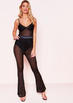 0accbe0ca79 Missy Empire Missyempire Celina Black Lace Mesh Jumpsuit