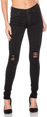Hudson Jeans Nico Distressed Skinny in Black $210 thestylecure.com