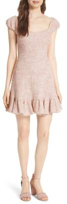 Rebecca Taylor Cap Sleeve Tweed Dress