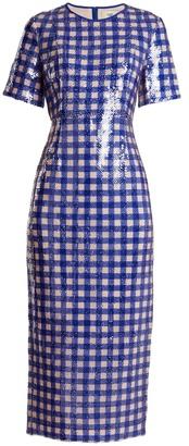 DIANE VON FURSTENBERG Cossier-print sequin-embellished dress