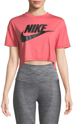 Nike Essential Short-Sleeve Crop Top