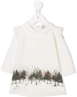 Moncler graphic print long-sleeve dress