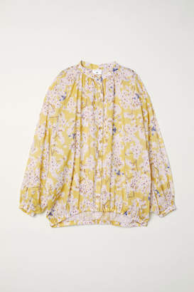 H&M Patterned Lyocell Blouse - Yellow