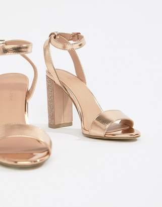 New Look Rhinestone Block Heel Sandal