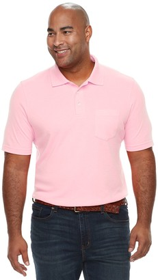 Croft & Barrow Big & Tall Classic-Fit Extra-Soft Interlock Pocket Polo