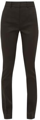 Frame Perfect Skinny Twill Trousers - Womens - Black