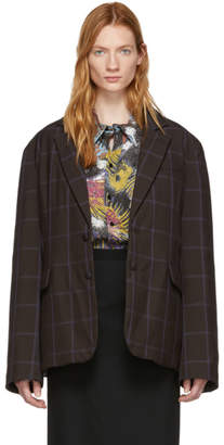 Martine Rose Brown Full Padded Blazer