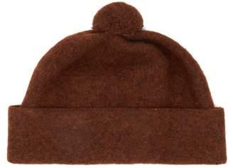 Margaret Howell Pom Pom Top Wool Beanie Hat - Mens - Brown