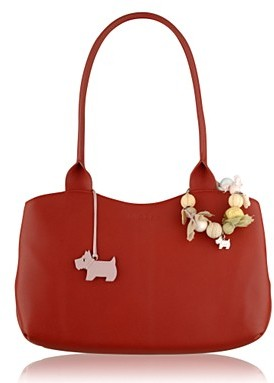 Red 'Filey' Tote Bag