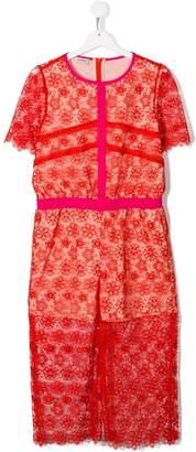 Pinko Kids floral lace jumpsuit