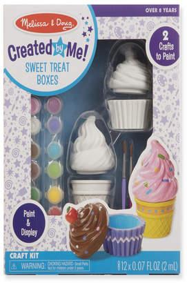 Melissa & Doug Created by Me! Sweet Treats Resin Trinket Boxes Craft Kit (Cupcake, Ice Cream, 12 Paints, 2 Brushes)