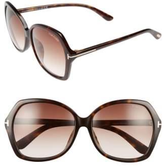 Tom Ford Carola Special Fit 60mm Sunglasses
