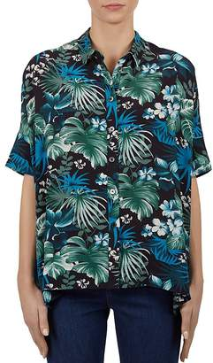 Gerard Darel Clotilde Tropical-Print Button-Down Shirt