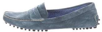 Manolo Blahnik Suede Driver Loafers