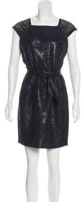 Yigal Azrouel Embellished Jacquard Dress