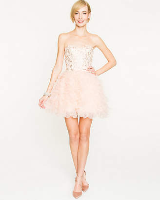 Le Château Sequin & Organza Tiered Cocktail Dress