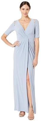 Adrianna Papell Embellished Trim Jersey Evening Gown