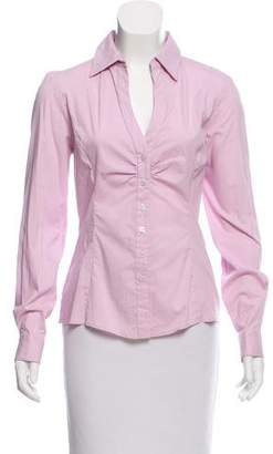 Tahari Long Sleeve Button-Up